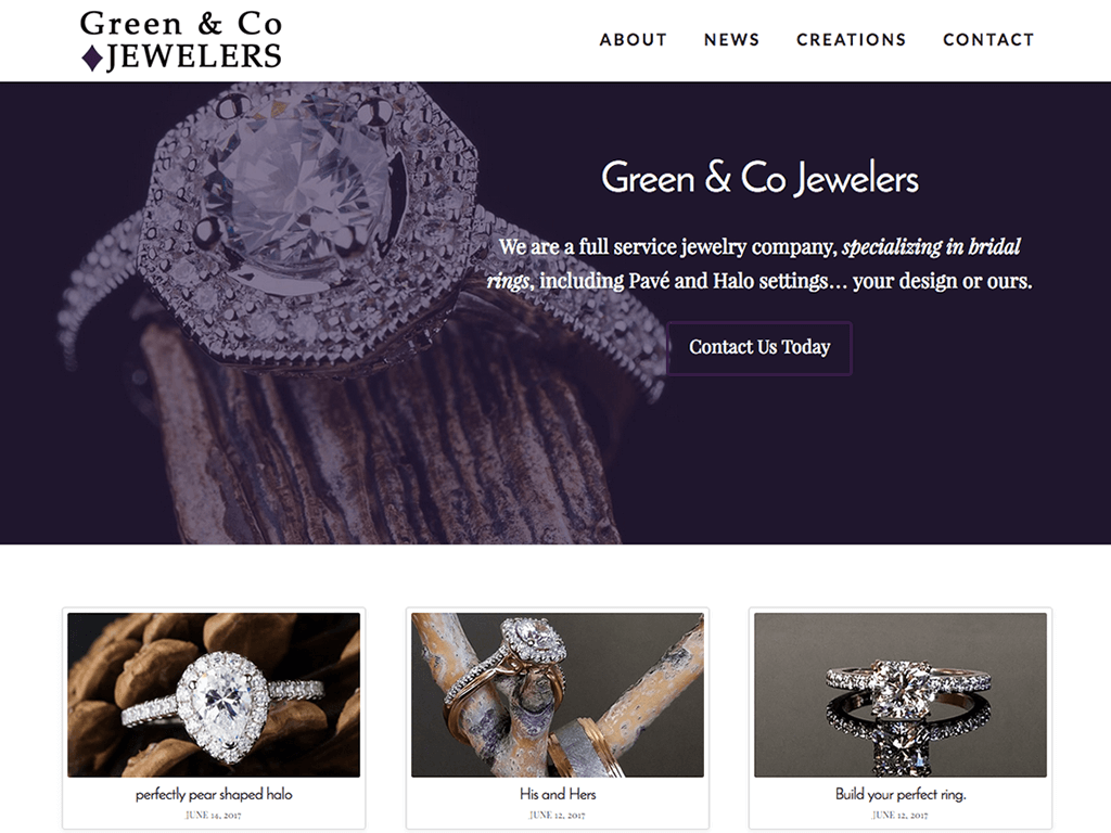 Green & Co website screenshot