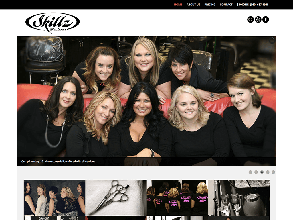 Skillz Salon website